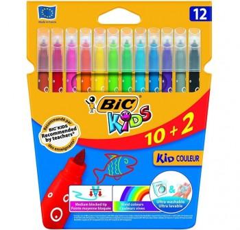 Estuche 10+2 rotuladores Bic Kids Couleur