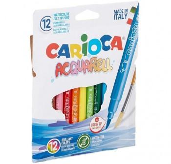 Caja 12 rotuladores acuarelables Acquarell Carioca colores surtidos