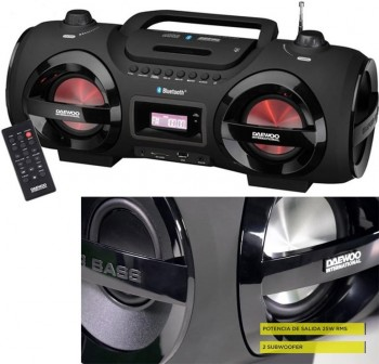 Radio CD MP3 bluetooth USB 2x12,5W RMS+2 subwoofer