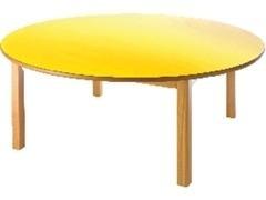 Mesa circular infantil de madera 120x53 cm