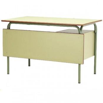 Mesa escolar modelo 239 verde ministerio 120x70x76 cm