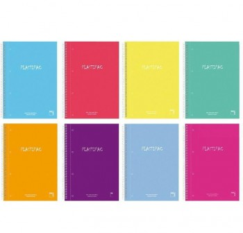 Pacsa Cuaderno tapa contracolada Xtra Plus 80h 90g cuadrícula 4x4 Folio colores surtidos