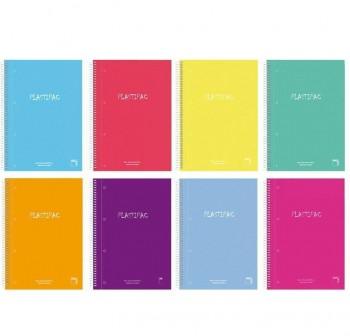 Pacsa Cuaderno tapa contracolada Xtra Plus 80h 90g cuadrícula 4x4 4º colores surtidos