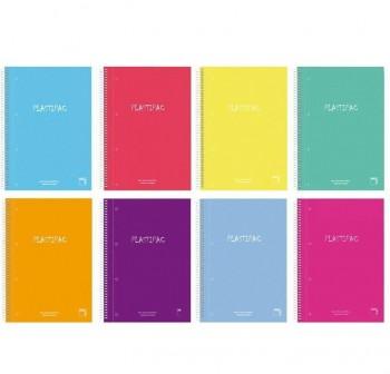 Pacsa Cuaderno tapa contracolada Xtra Plus 80h 90g pauta 3,5mm 4º colores surtidos