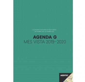 Additio Agenda G para el profesorado mes a la vista, planificación 16 meses 19,5x29,5cm