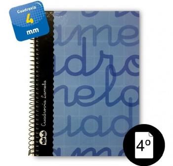 Lamela  Cuaderno tapa forrada 80h 70g cuadrovía 4mm 4º azul