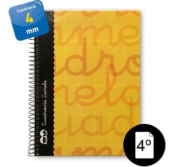 Lamela  Cuaderno tapa forrada 80h 70g cuadrovía 4mm 4º naranja