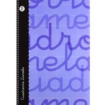 Lamela  Cuaderno tapa forrada 80h 70g cuadrovía 3mm Folio azul