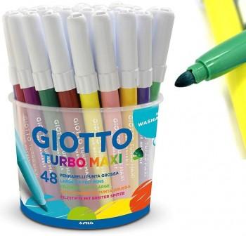 Giotto Bote 48 rotuladores Turbo Maxi colores surtidos