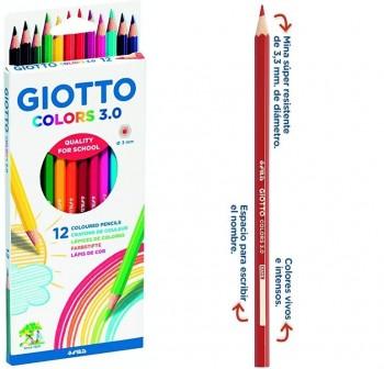 Giotto Estuche 12 lápices de colores Colors 3.0 colores surtidos