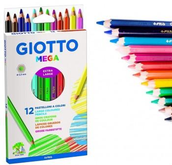 Giotto Estuche 12 lápices de colores Mega colores surtidos