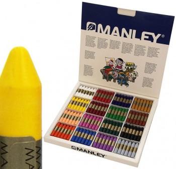 Manley Caja School Pack 192 ceras Manley colores surtidos