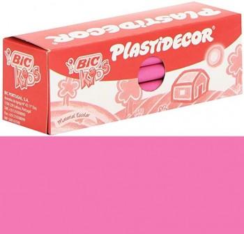 Estuche 25 Ceras Plásticas plastidecor rosa