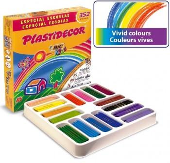 Caja sp 352 Ceras Plásticas plastidecor 16 coloresx24uds