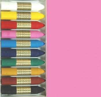 Caja 12 barritas ceras manley rosa