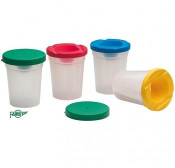 Bote de plástico para pintura con tapa antivuelco