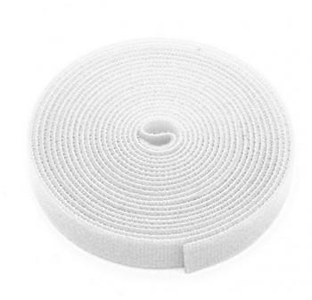 Rollo de velcro Adhesivo 2cmx25m blanco