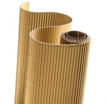 Blister 5 hojas cartón ondulado 50X70cm  oro