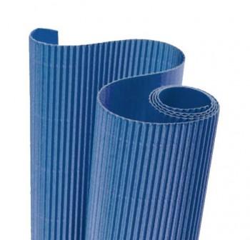 Blister 5 hojas cartón ondulado 50X70cm  azul fuerte