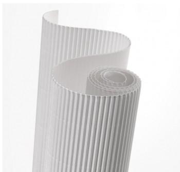 Blister 5 hojas cartón ondulado 50X70cm  blanco