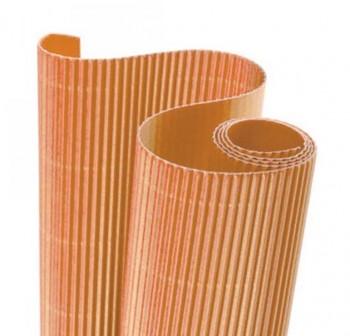 Blister 5 hojas cartón ondulado 50X70cm  naranja