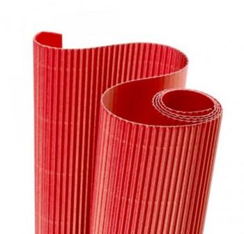 Blister 5 hojas cartón ondulado 50X70cm  rojo