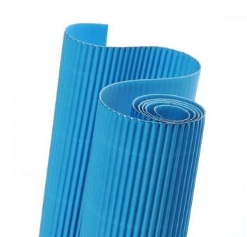 Blister 5 hojas cartón ondulado 50X70cm  azul