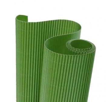Blister 5 hojas cartón ondulado 50X70cm  verde