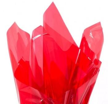 Rollo de celofan continuo 0,7x10 m color rojo