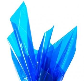Rollo de celofan continuo 0,7x10 m color azul