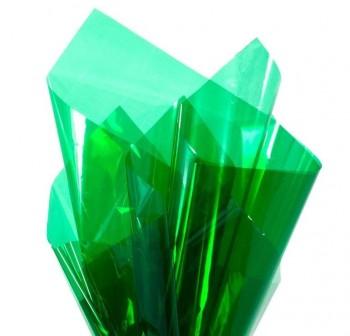 Rollo de celofan continuo 0,7x10 m color verde