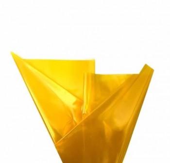 Rollo de celofan continuo 0,7x5m cristal amarillo
