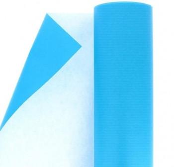Rollo papel kraft gama nefertiti 1x5m azul turquesa
