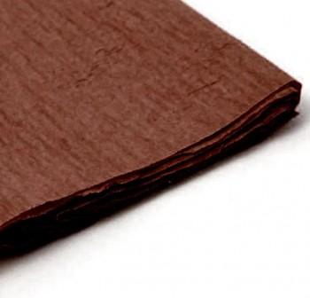 Rollo de papel crespon 0,5x2,50m marrón fuerte