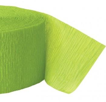 Rollo de papel crespon 0,5x2,50m  verde lima