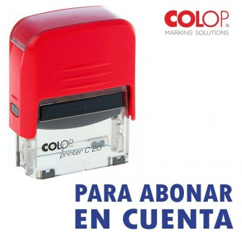 Sello automatico Colop para abonar en cuenta printer 20