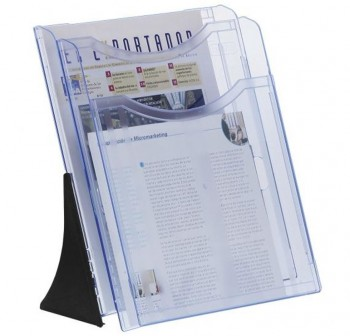 ARCHIVO2000 Expositor doble A4 vertical modelo 6102 AZUL