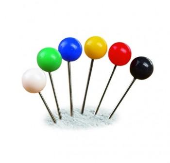 Caja 50 agujas señalizadoras redondas colores surtidos