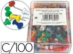 Caja 100 agujas Señalizadoras copa colores surtidos