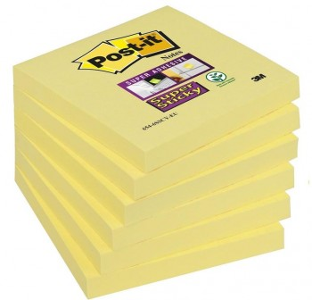 Bloc notas Post-it super sticky 654-s 76x76mm