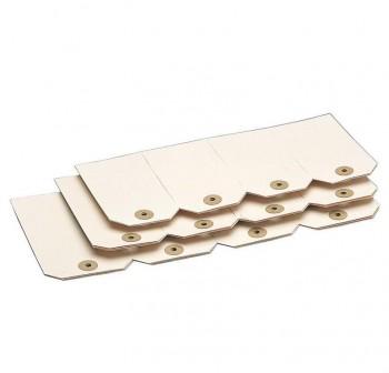 Pack 1000 etiquetas con arandela 42x72mm beige