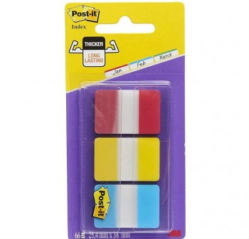 Pack 3 Blocs notas index Post-it 686-RYB 25x38mm colores surtidos