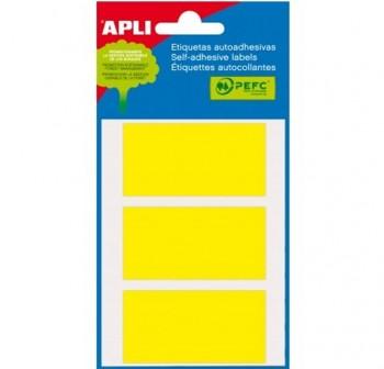 Pack 48 etiquetas escritura manual 34x67mm amarillo