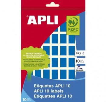 Pack 448 etiquetas escritura manual color 12x18mm azul