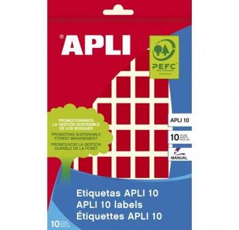 Pack 448 etiquetas escritura manual color 12x18mm rojo