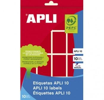 Pack 128 etiquetas escritura manual color 25x40mm rojo