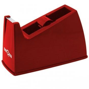 Portarrollos sobremesa Dequa para cinta 33m rojo