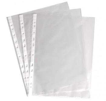 Caja 100 fundas multitaladro Dequa PP extra liso A4 11 taladros 80 micras