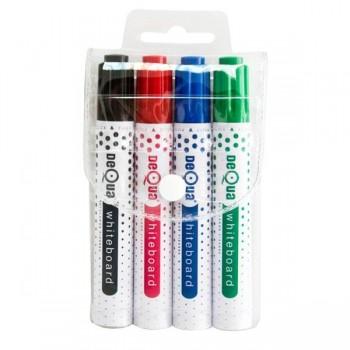 Blister marcadores pizarra, negro, rojo, azul y verde