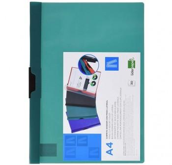 DEQUA Pack de 5 dossier con clip A4 verde